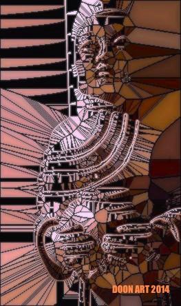 Doon Art Buddha wVase glass