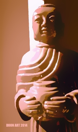 Doon Art Pink Buddh wVase