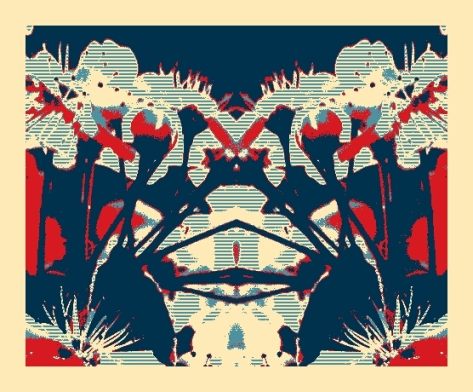 Doon art flower mirror image